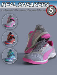 S3D Real Sneakers 5 for Genesis 3 and 8 Female(s) by Slide3D