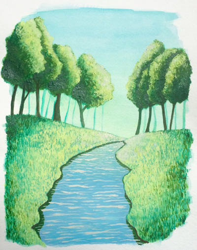 Green Morning  by juliartist1226