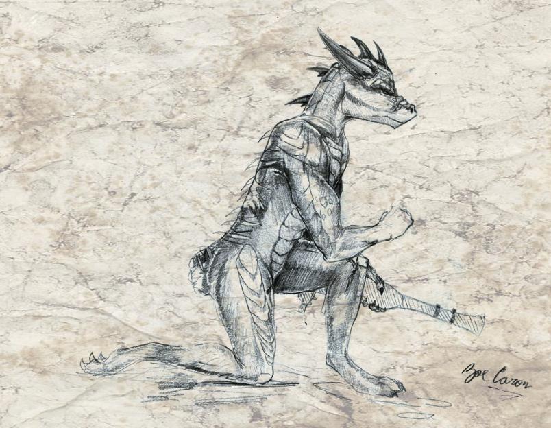 Sketch CM: Thal Verscholen by EternalDragoness