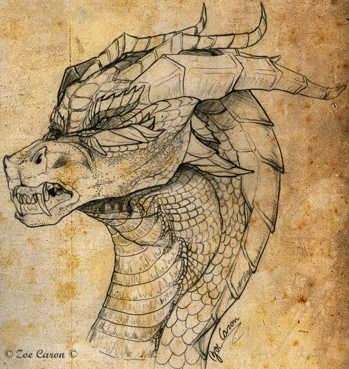 Quick Sketch: Draconic Face by EternalDragoness