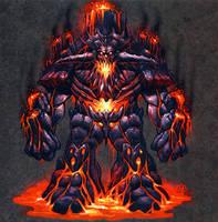 Lava Elemental Concept by RynoZebz