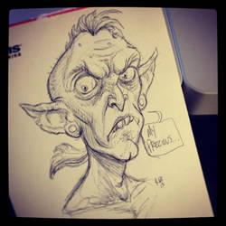Sketches 1/2013: Punk Rock Gollum by RynoZebz