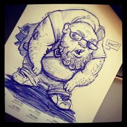 sketches 1/2013: Self Portrait :o) by RynoZebz