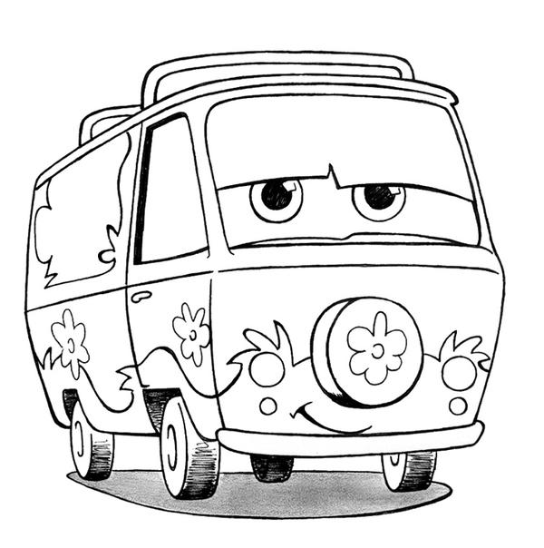 Mystery machine by renatamer on deviantart for Scooby doo mystery machine coloring pages