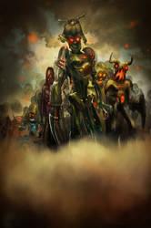 Mecha Zombies Crew WIP by lepetitgroin