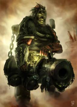 Canon Artillery Soldier