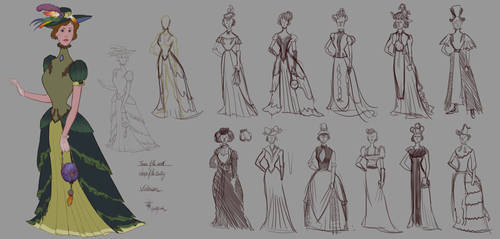 Victorian - Women of the Centuries - WIP by lepetitgroin