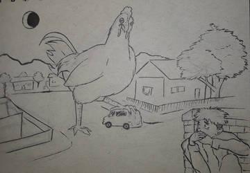 Inktober 5: chicken