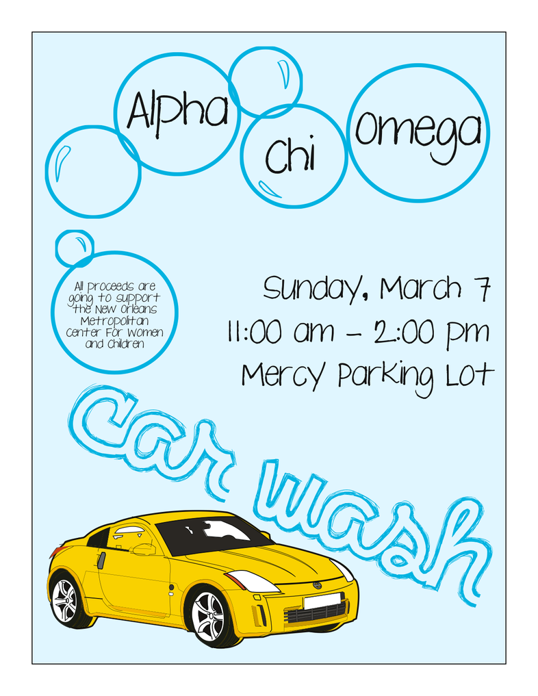 alpha chi omega car wash flyer by iownthis on deviantart. Black Bedroom Furniture Sets. Home Design Ideas