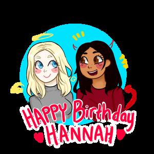 HAPPY BIRTHDAY HANNAH!!