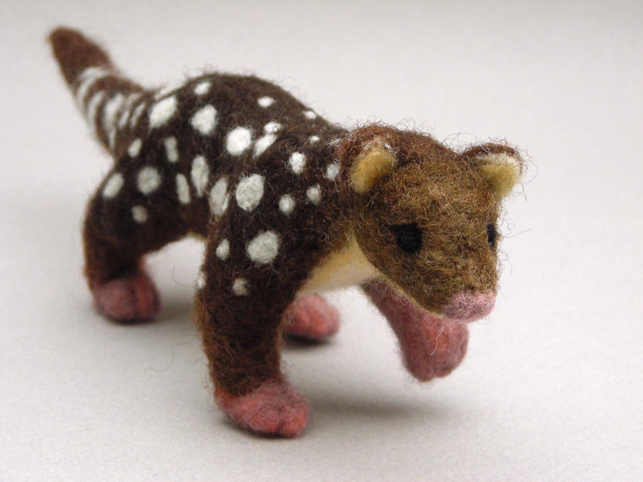 Needle felted Tiger Quoll 2 by creturfetur