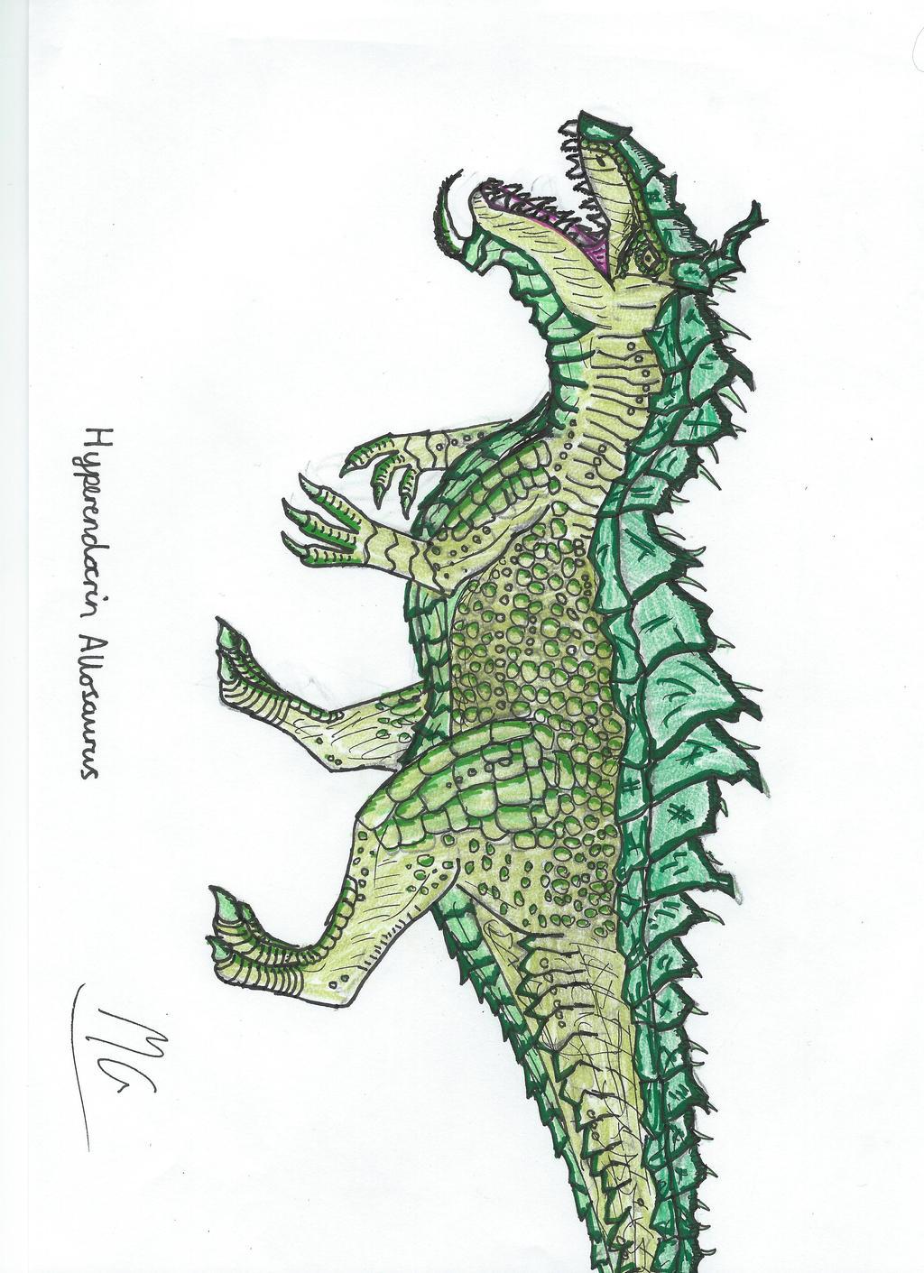 Hyperendocrin Allosaurus by Mgcroco