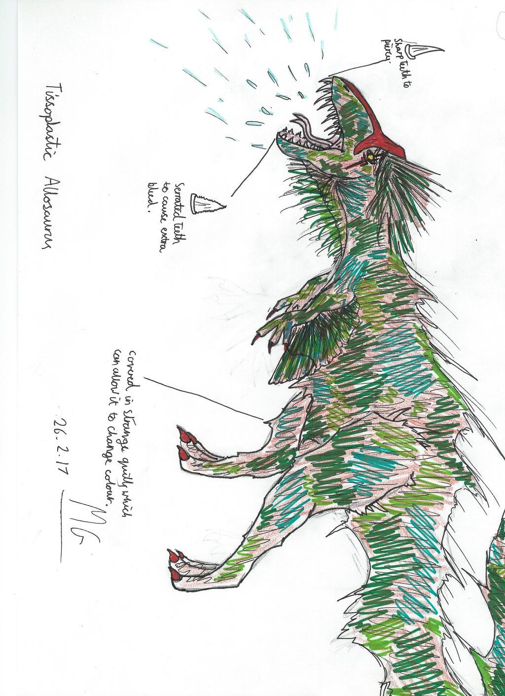 Tissoplastic Allosaurus by Mgcroco