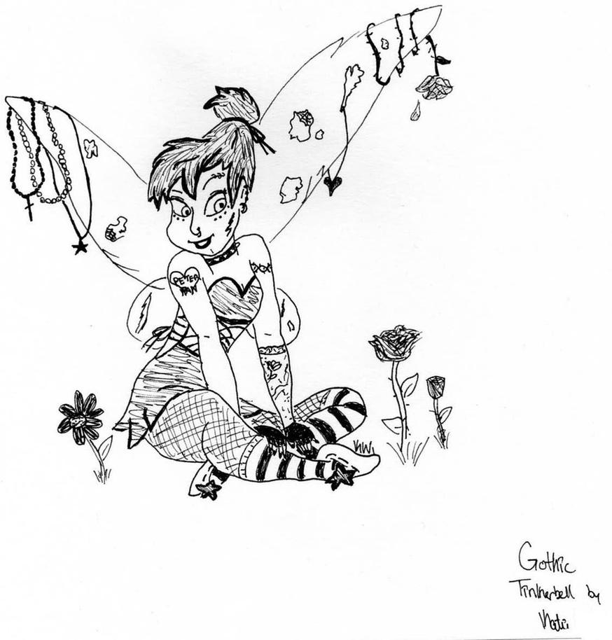 punk tinkerbell coloring pages - photo#17