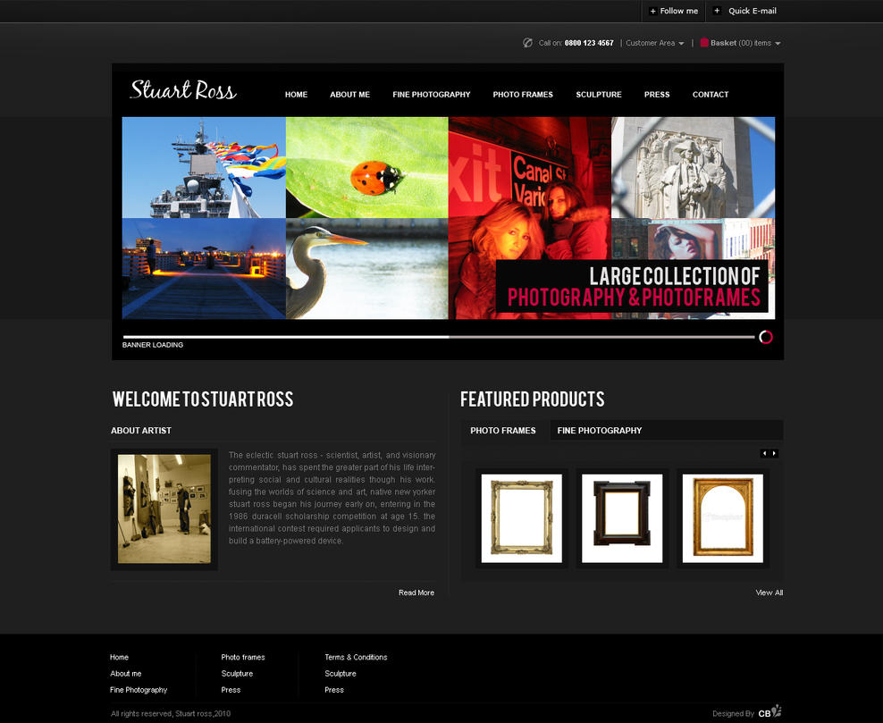 stuart photographer by deviant bacha d30os1f Web Design Inspiration: Inspiring and Creative Web Interface Designs