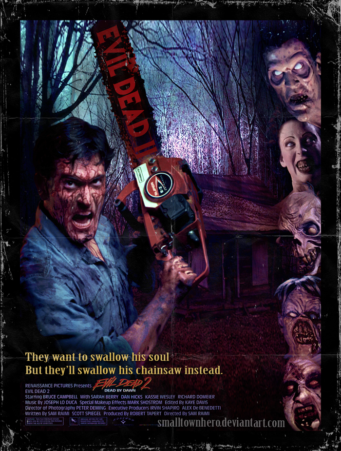 -Imagenes raras e inconseguibles del cine de terror- - Página 2 Evil_dead_2_poster_by_smalltownhero-d31lzq1