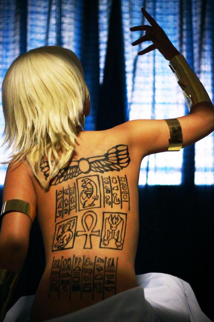 Marik Ishtar Back Piece. Done by Kim at Classic Tattoo in Richmond ...