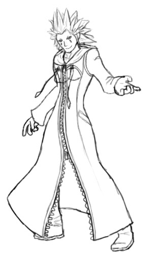 Kingdom Hearts Axel Coloring PagesHeartsPrintable Coloring Pages