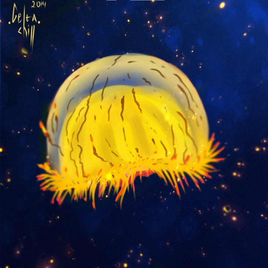 Gold Jellyfish by Gelta-chill