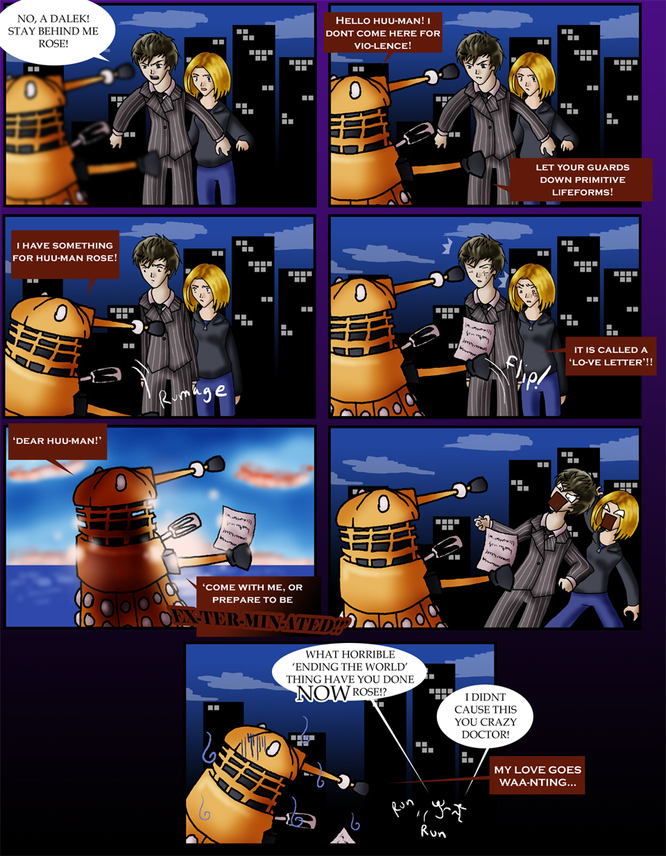 Doctor Who - Dalek in love by Loverofpiggies