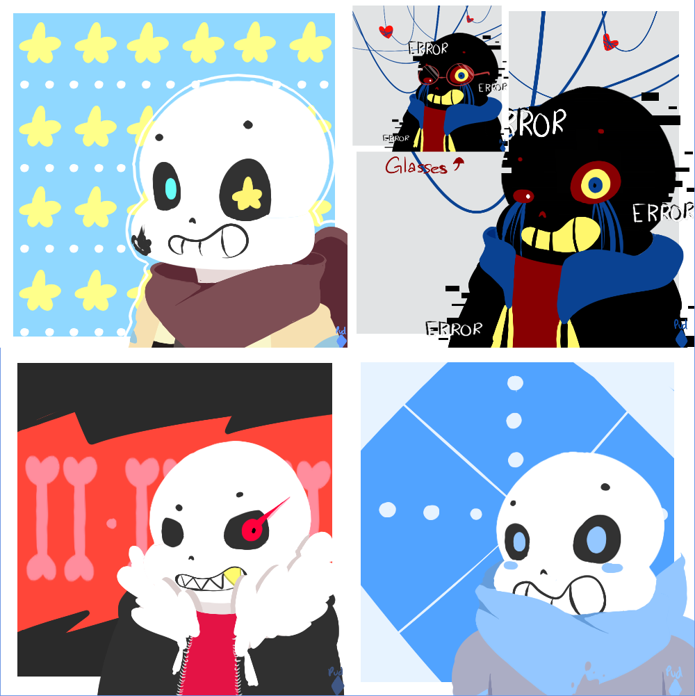 [Icons] Sans AUs by Pudp0n