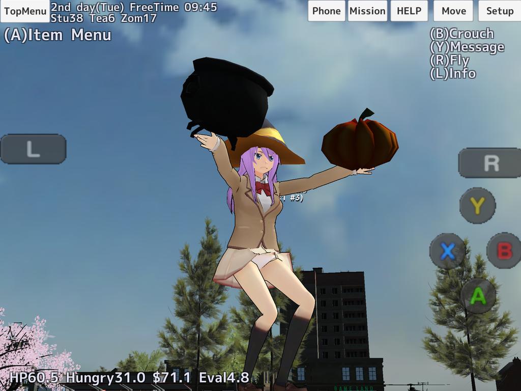 Halloween in School Girl Simulator by YumiMegpoid