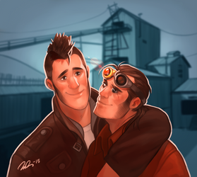 Max and Carl by vilssonify