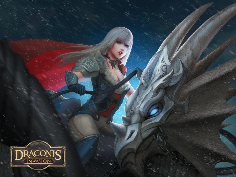 Draconis Invasion : Dragon Rider by InaWong