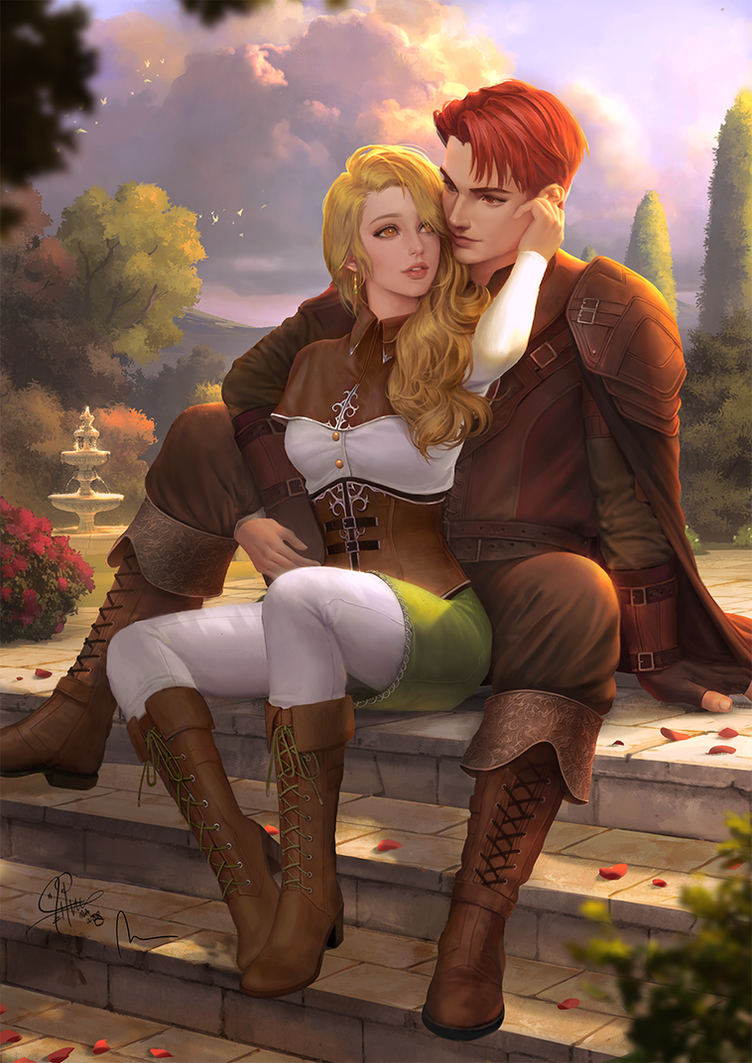 Liliana and Feirdon by InaWong