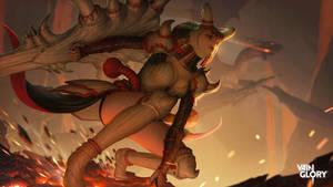 Vainglory : Dragon Master Catherine Splash Art