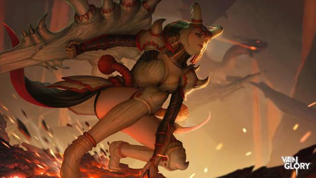 Vainglory : Dragon Master Catherine Splash Art by InaWong