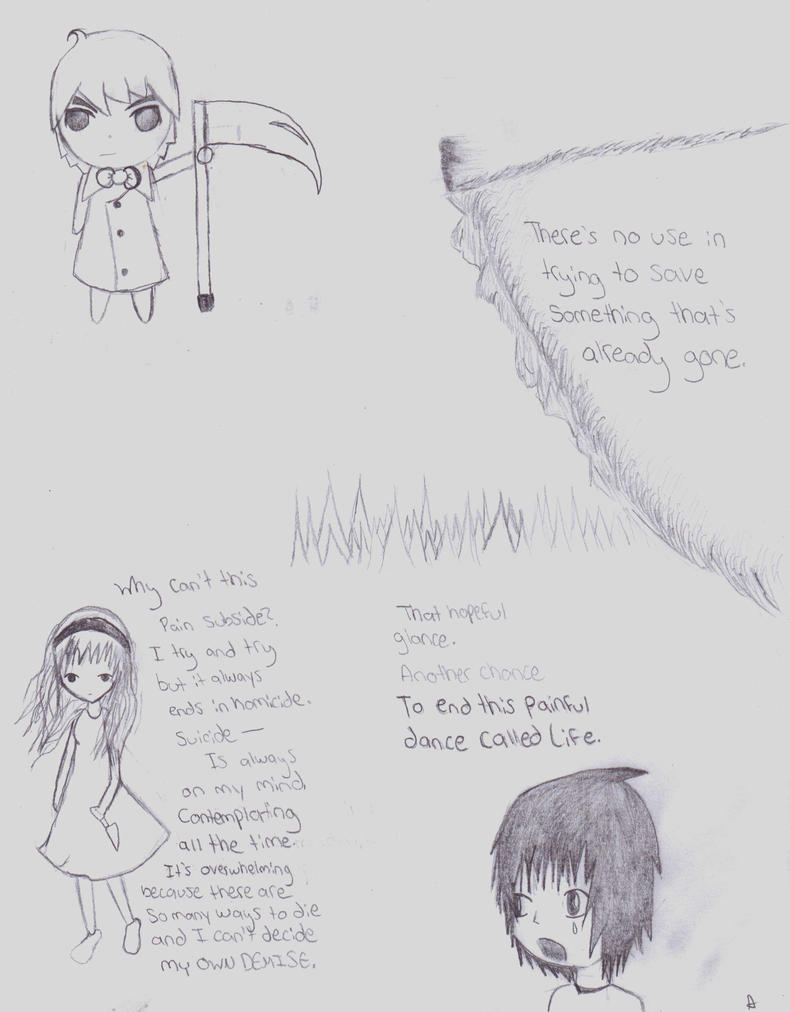 a compilation of depressing poems and drawings  by