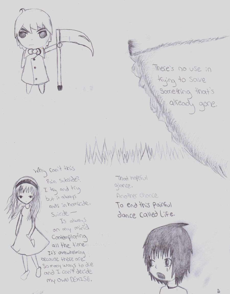 A Compilation Of Depressing Poems And Drawings By Audgerdodger