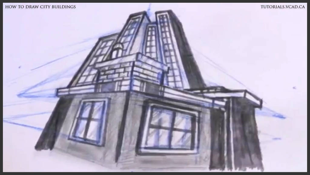 Learn How To Draw City Buildings 043 By Drawingcourse On Deviantart