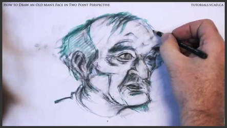 Draw An Old Man's Face In Two Point Perspective 33 by drawingcourse