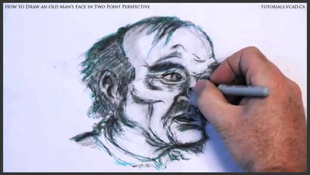 Draw An Old Man's Face In Two Point Perspective 43 by drawingcourse