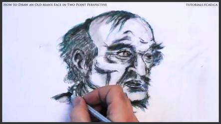 Draw An Old Man's Face In Two Point Perspective 46 by drawingcourse