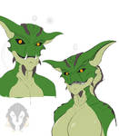 Alien Lizardfolk concept