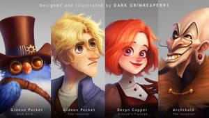 Mr.Pocket : Main characters by MrDark91