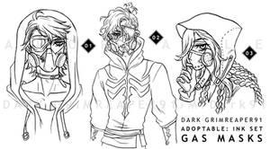 [CLOSED] Adoptables : INK set GAS MASKS
