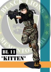 Kitten - black lions