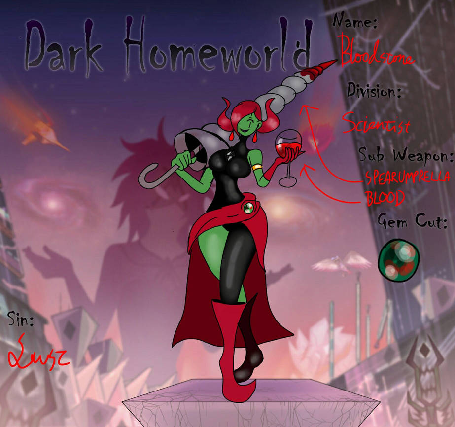 updated  dark homeworld gem bloodstone by gameboyred on DeviantArt