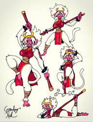 momosaru demon monkey by gameboyred