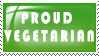 proud vegetarian stamp by Killa-Bunny