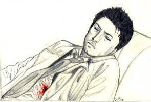 SPN : Wounded Castiel by floangel