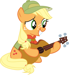[MLP] Filly Applejack Playing on Guitar