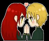 Pixel Icon Hikari and Hayate by KoizumiKumiko
