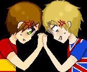 [APH] Spain and England Pixel Icon by KoizumiKumiko