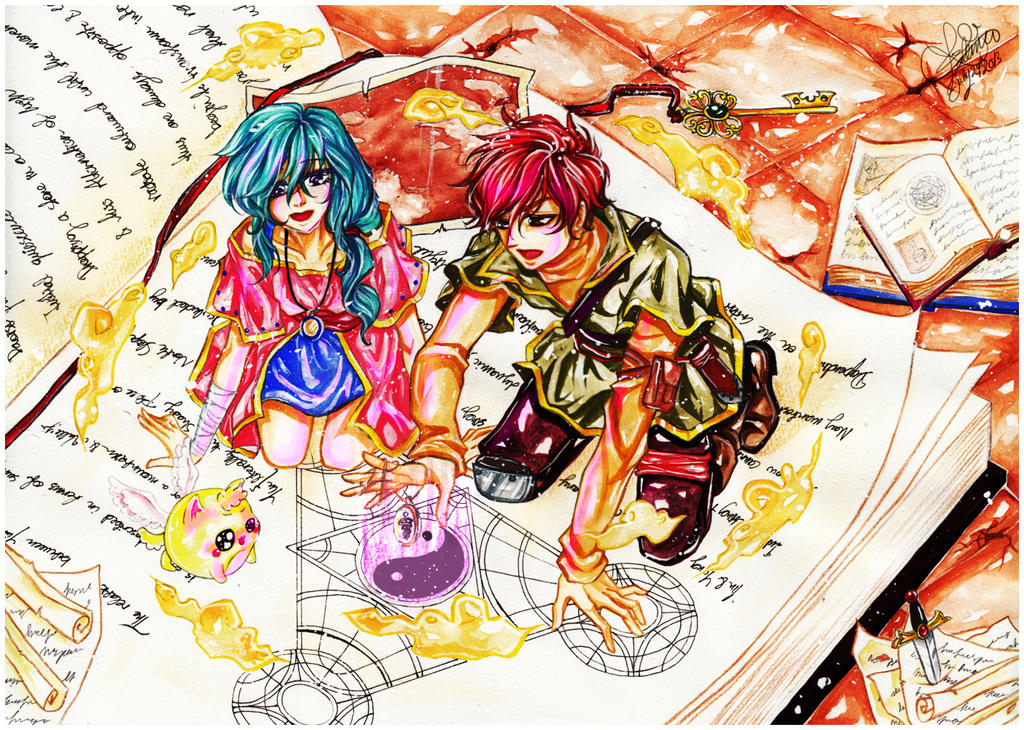 Mahou no Hon - Book of Magic by Misaki-92