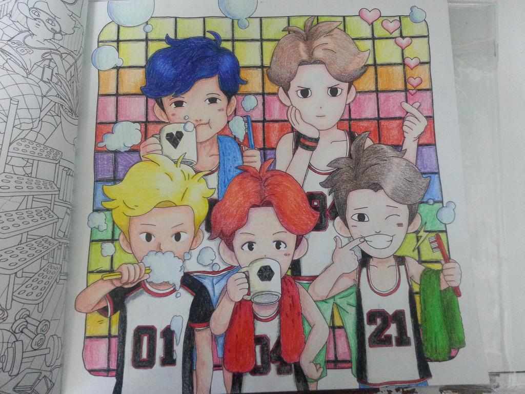 Exo Coloring Book Pg5 By ChrONa SarAy